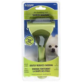 Інструмент для линяющей вовни собак Safari Shed Magic New середній