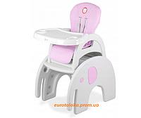 Кресло стульчик для кормления Lionelo Eli Pink