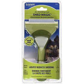 Інструмент для линяющей вовни собак Safari Shed Magic New великий