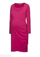Трикотажное платье для кормления, цвет малиновый, размер 40-42