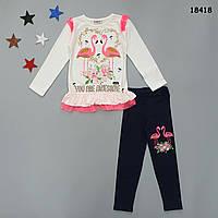 """Костюм """"Фламинго"""" для девочки. 110-116;  122-128;  134-140 см, фото 1"""