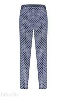157W3221 Укороченные брюки, цвет серо-голубой, размер 40