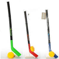 Детский набор для хоккея MS 2912: клюшка 74 см + шайба 8.5 см, разн. цвета
