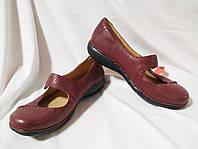 Туфли женские кожаные бордовые Clarks Unstructured (Размер 39 (UK6½D))