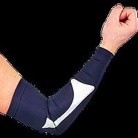 Рукав баскетбольный компресионный 1 шт. спандекс-нейлон размер L черный-серебро, фото 1
