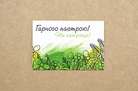 "Мини-открытка  007. 95*65 мм ""Гарного настрою!"", фото 1"