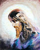 """Картина маслом на холсте """"Иисус"""", икона размером 40*50см, авторская живопись"""