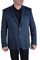 Пиджак мужской большого размера AMATO 7167 (64, темно синий с полос.)