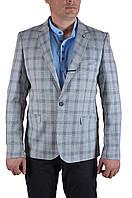 Пиджак мужской T.Cassano 167-01 (50, светло-серый в клетку)