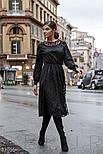 Вечернее платье длины миди в горошек черное, фото 2