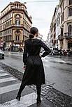 Вечернее платье длины миди в горошек черное, фото 4