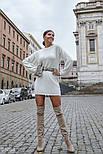 Короткое осеннее платье с длинным рукавом, фото 3