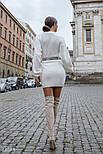 Короткое осеннее платье с длинным рукавом, фото 4
