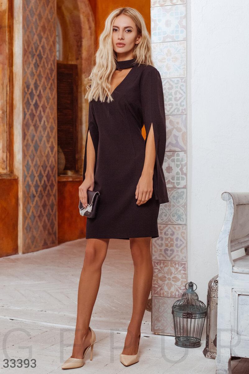 Вечернее платье-кейп черное