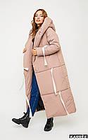 Длинная куртка-одеяло Тейлор на зиму (42-48 в расцветках), фото 1