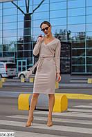 Практичное приталенное платье с вырезом на спине арт 977