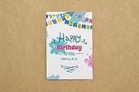 """Мини-открытка 010. 95*65 мм """"Happy birthday"""", фото 1"""