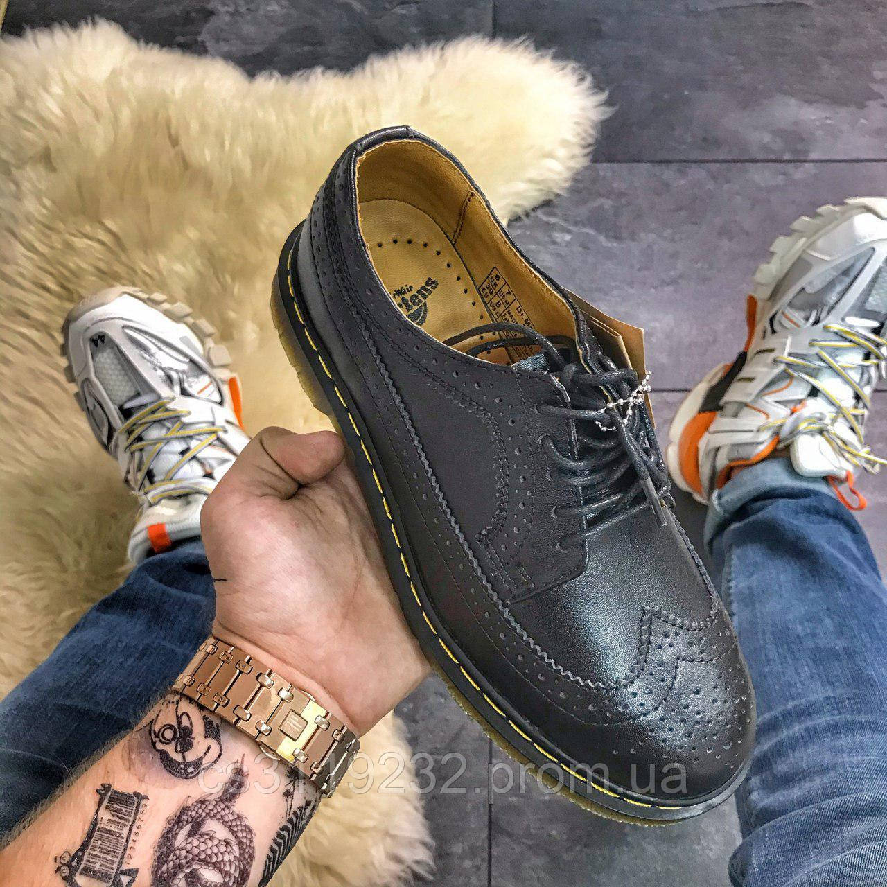 Женские классические туфли Dr Martens 3989 Black (черный)