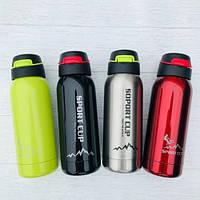 Cпортивная бутылка термос Sport 500 мл с трубочкой и поилкой