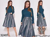 Женский костюм / костюмная ткань, мустанг / Украина 40-2150, фото 1