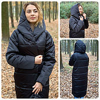 Пальто зима, артикул 521, цвет черный, фото 1