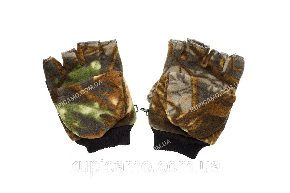 """Перчатки-варежки флисовые для рыбаков и охотников -30 """"Камо"""""""