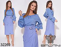 Женский костюм / костюмная ткань, софт / Украина 40-2230, фото 1