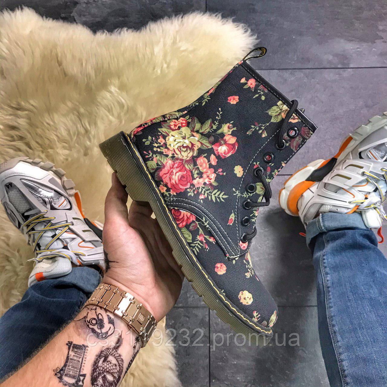 Женские ботинки Не бренд (под Dr.Martens) демисезонные (многоцветный)