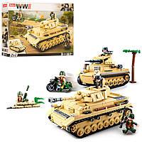 Конструктор танк SLUBAN (M38-B0693) военная техника, фигурки, 543 детали