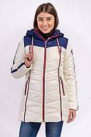 Зимняя куртка женская распродажа Avecs бежевый 52 (XXXL)