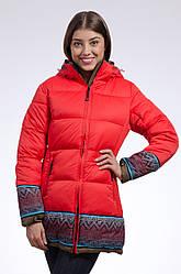 Зимняя куртка женская распродажа Avecs красный