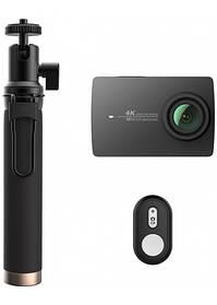 Экшн Камера Xiaomi YI 4K Selfie kit + монопод + пульт набор Русский Язык