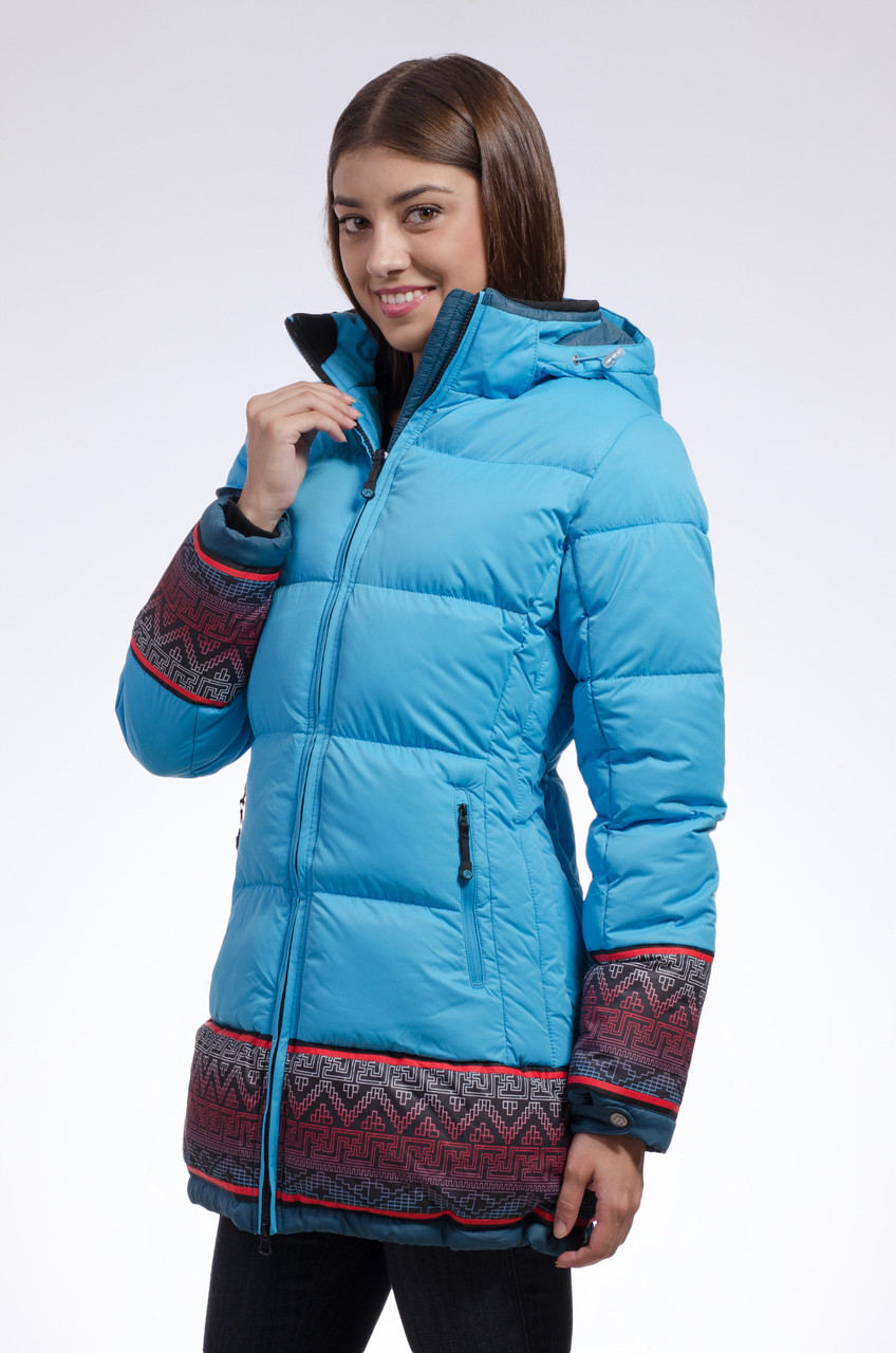 Зимняя куртка женская распродажа Avecs голубой