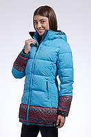 Зимняя куртка женская распродажа Avecs голубой 46 (M)