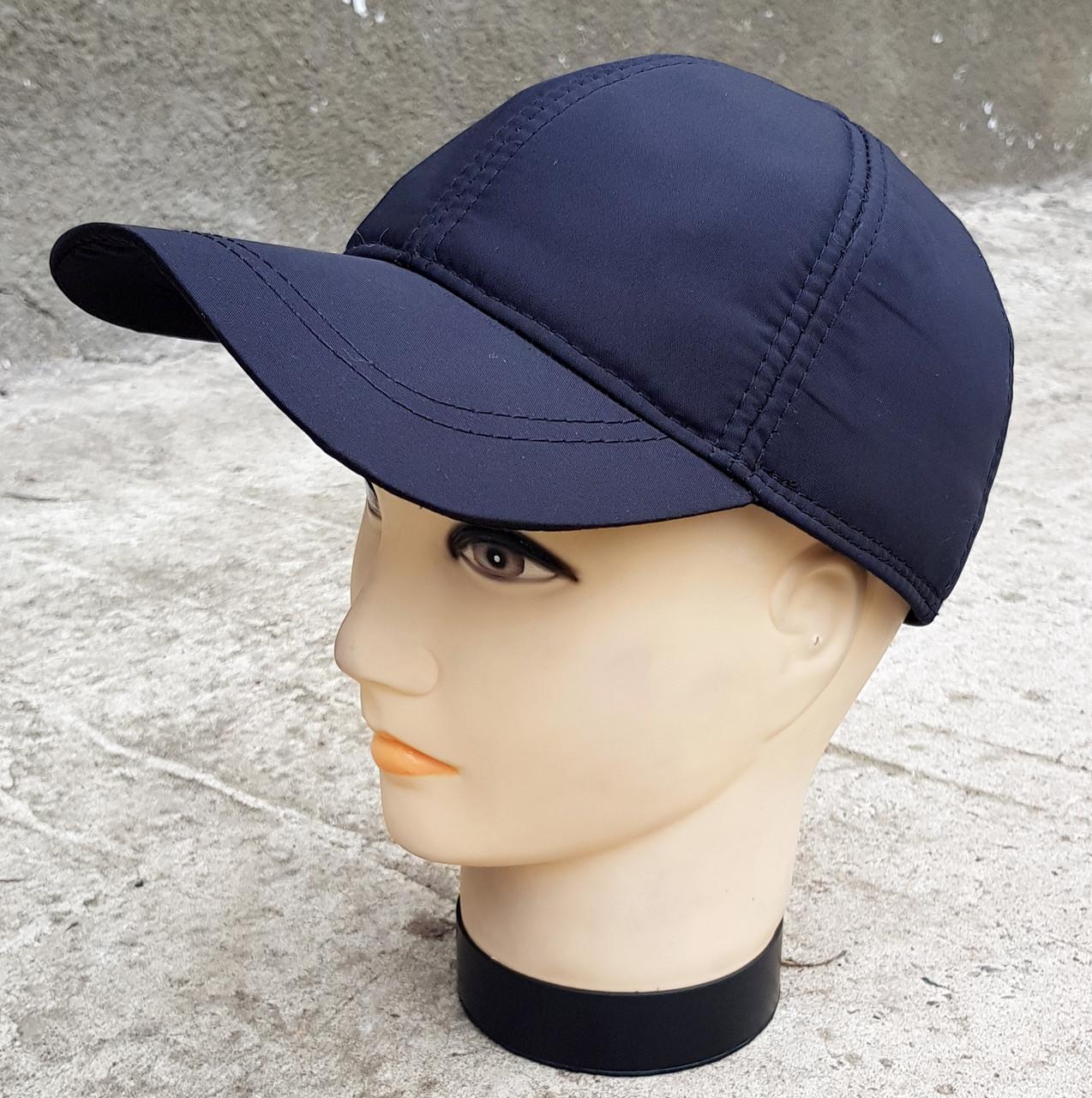 Мужская демисезонная  кепка Klaus Плащевка Черная (383 МД)