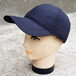 Мужская демисезонная кепка Klaus Плащевка Черная (383 МД) L
