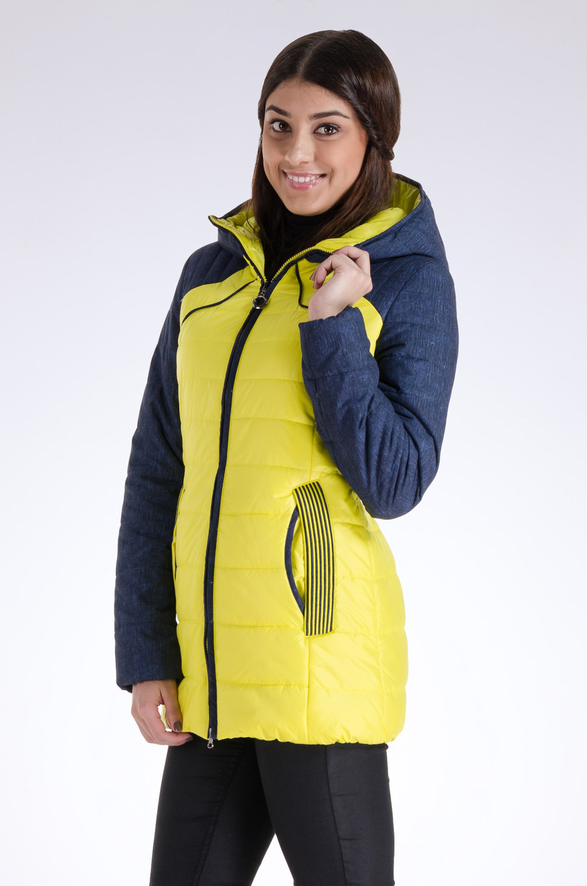 Куртка женская демисезонная распродажа Avecs желтый