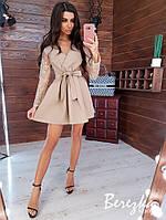 Короткое платье с пышной юбкой и верхом на запах 6603296Е