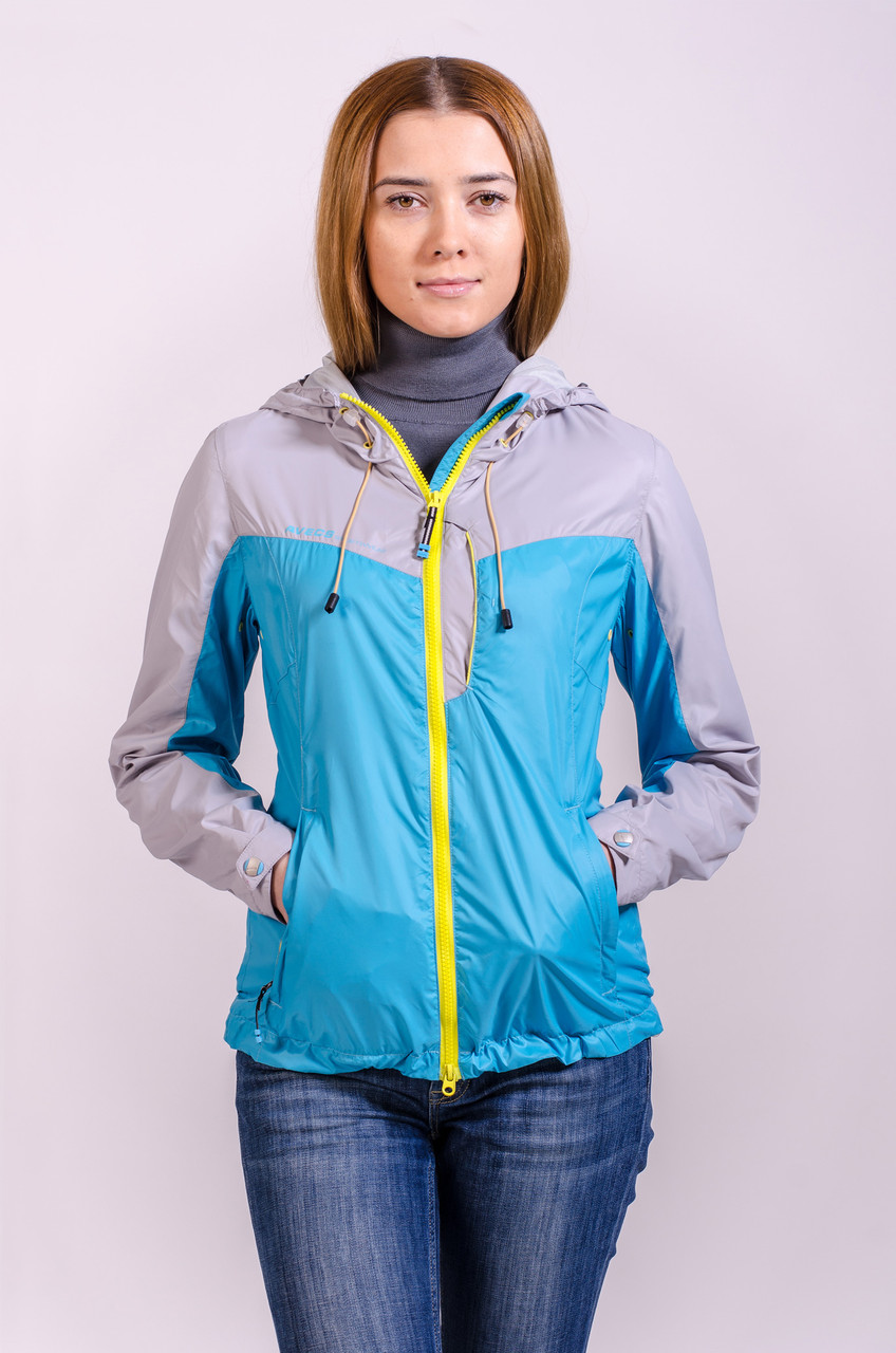 Куртка женская ветровка Avecs голубой