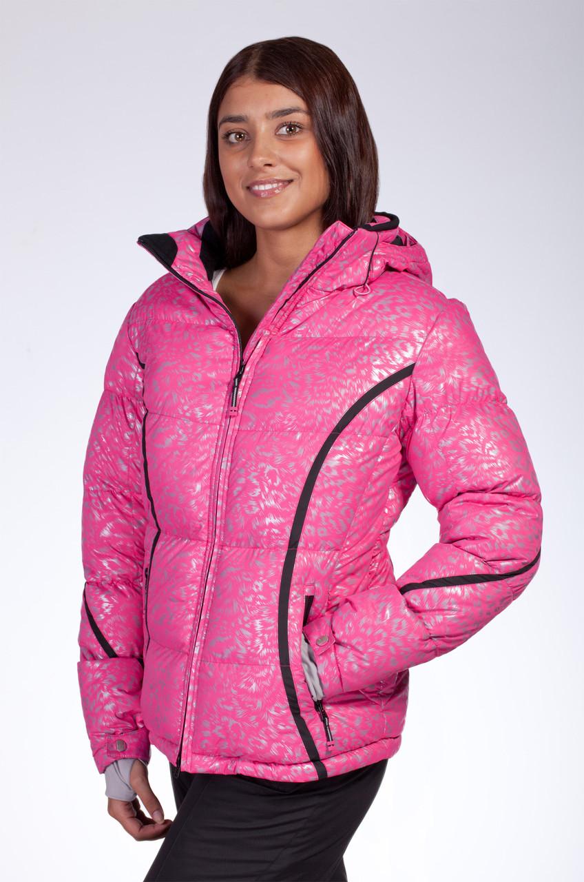 Зимняя куртка женская Avecs 0730 розовый L