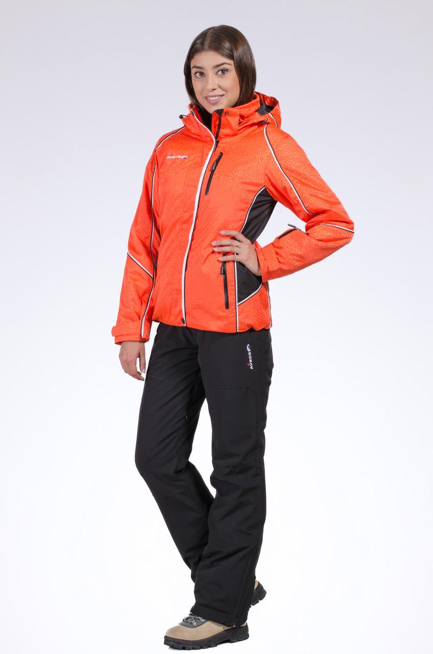 Горнолыжная куртка женская Avecs 50205 оранжевый XXL