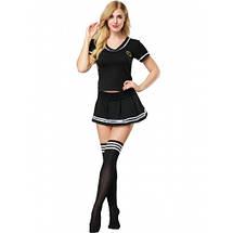 Сексуальный наряд студентки школьницы  Irma черная форма эротическая, фото 3