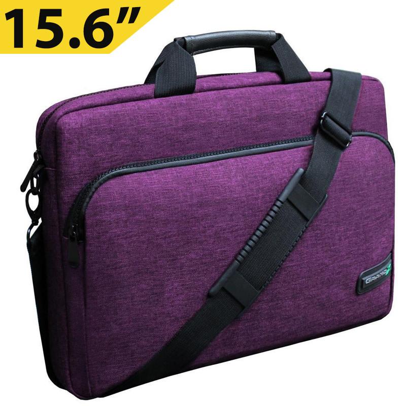 "Сумка для ноутбука 15.6"" Grand-X SB-139P, фиолетовая, 38 х 26 х 5 см"