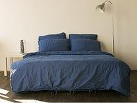 Постельное белье из льна Синий
