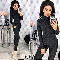 Повседневный костюм женский ЕФ/-458 - Черный, фото 1