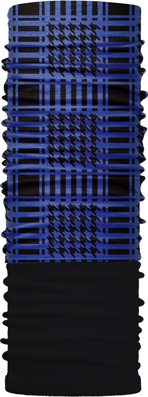 Зимовий бафф Бандана-трансформер двошаровий синя арафатка Чорний з синім (ZBT-2f-068-1)