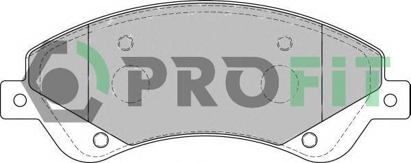 Сделано в Чехии Колодки передние торм. диск. TRANSIT 2.2TDCI, 2.3 16V, 2.4 TDCI ( TRACTION ) 07/06-