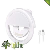 Вспышка-подсветка для телефона селфи-кольцо Selfie Ring Light RK-12 White