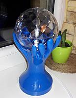 Светодиодный диско-шар крутящийся в Руках, цвет Синий, фото 1