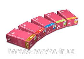 Перчатки Mercator medical Розовые нитриловые Nitrylex® PF Collagen с коллагеном 100 шт/50 пар, размер М, фото 2